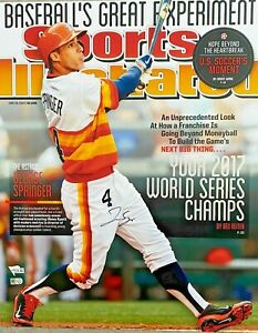 Houston Astros George Springer Signed 16x20 Photo SI Cover Fanatics + MLB Holo