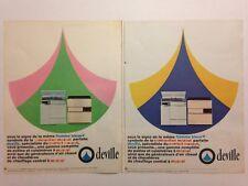 LOT PUBLICITES ANNEE 60 SPECIAL DEVILLE // CUISINIERE - POELE