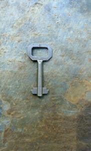 Antique Double Bit Solid Shaft Key  # 4  Roll-Top Desk Key Number 4 Desk Key