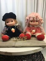 "1980's Ice Cream Vintage Dolls Set Boy And Girl Both Are 24"" Tall"