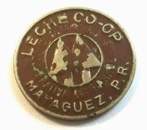 Ficha COLOR MARRON LECHE COOP Milk Dairy BROWN token MAYAGUEZ Puerto Rico Cocoa
