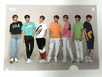 BTS × FILA SUGA V RM JIN JIMIN JUNGKOOK J-HOPE Official Photo Clear Holder File