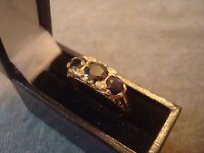 Ladies .750 18CT Oro Giallo Anello Di Diamanti/Saphire 4g Taglia L in scatola ref 0751