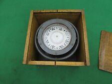 Antique Sestrel Marine Ships Compass in Gimbals & Teak Box