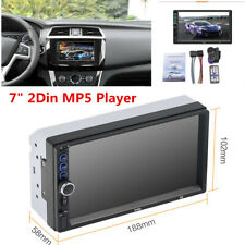 "Double 2Din 7"" HD Car MP5 Player In Dash USB Bluetooth Radio Stereo Touch Screen"