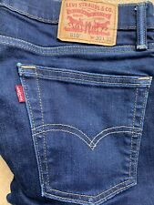 Levis 510 Skinny Fit Stretch Jeans Blue  -W30 L32 Zip Fly-Phone Outline On Leg