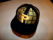 Pittsburgh Pirates Gold Checkered Hat American Needle Pro Fitted 7 3/8 20% Wool