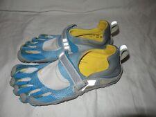 Vibram FiveFingers W346 Bikila Running Shoes Women Size 39 US 7.5-8 Blue Yellow