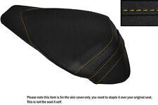 GRIP VINYL YELLOW STITCH CUSTOM FITS APRILIA RSV4 R 1000 09-15 REAR SEAT COVER