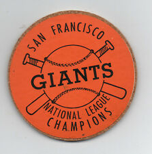 1960s San Francisco Giants National League Champion Coaster in Orange