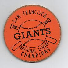 1960s San Francisco Giants National League Champion Coaster in Orange