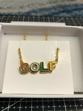 GOLF WANG 3D LOGO GOLD NECKLACE