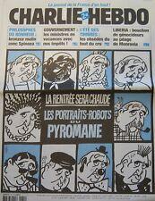 CHARLIE HEBDO N° 581 AOUT 2003 CABU ETE  PORTRAITS ROBOTS DU PYROMANE