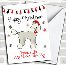 Poodle From or to The Dog Pet Personalised Christmas Card