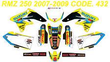 432 SUZUKI RMZ 250 2007-2009 Autocollants Déco Graphic Sticker Decal Kit