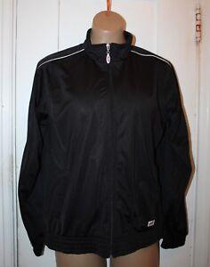 SOFFE Juniors Warm Up Track Jacket Vintage Retro Style Black Large NWT
