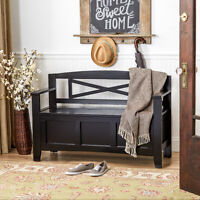black wood entryway benches with shoe storages | BLACK, WALNUT, or WHITE SHOE STORAGE BENCH ORGANIZER ...