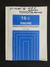"Toyota CAMRY "" 1S-i engine "" SV20 series 1987  Genuine REPAIR  MANUAL supplement"