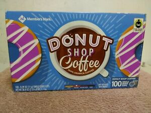 Member's Mark Donut Shop Coffee ~ Single Serve Cups ~ 100 count ~ Manuf. Sealed