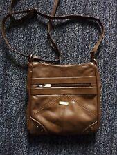 Ladies Genuine 3 Zips Leather Lorenz Cross Body/Shoulder Bag Corner Stud Design