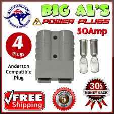 4 X 50Amp DC Power Connector Anderson Style Plug 12v 24v Fridge Charger Battery