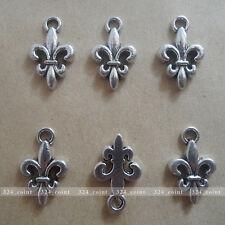 P077 20pcs Tibetan Silver Charm flowers retro Accessories Wholesale