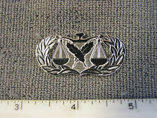 USAF issue Basic Paralegal bright badge by Best Emblem, brand new never issued