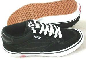 Vans Men's Rowan Zorilla Pro Classic Black White shoes Suede Canvas size 9.5 NEW