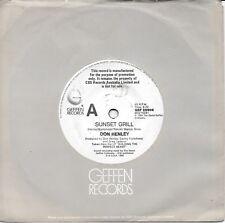 "DON HENLEY - SUNSET GRILL - 7"" 45 PROMO VINYL RECORD - 1984"
