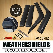 Suit Weathershields For Toyota Landcruiser 70 76 78 79 Series Window Visors STD
