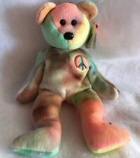 TY Beanie Baby Peace  the Bear 1996 Rare With Tag Error