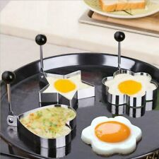 Stainless Steel Fried Egg Mould Shaper or Pancake Mold Ring Heart Flower Star
