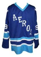 Any Name Number Size Gordie Howe Custom Hockey Jersey Blue