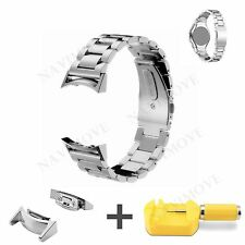 Silver Stainless Steel Watch Strap Band For Samsung Gear S2 SM-R720 & SM-R730