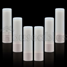25  Lip Balm Container Tube Empty Natural White w/ Cap 8 ML
