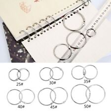Metal Loose Leaf Book Binder Hoop Ring Multifunctional Keychain Circle DIY Album