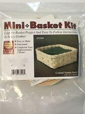 Cocktail Napkin Basket Weaving Kit, Basket Weave, Supplies, Basket Pattern, Reed