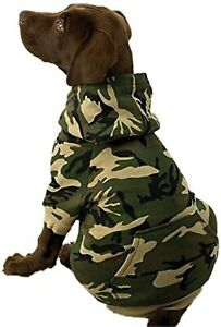 """Casual Canine Camo Hoodie Dogs 13"""" Medium Green Perfect For Winter & Fall!"""