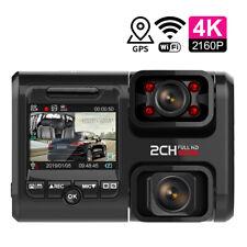 WIFI GPS Dual Lens Car DVR 4K 2160P Sony Sensor   Video Recorder Night Vision