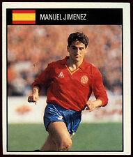 Manuel Jimenez Spain #151 Orbis World Cup Football 1990 Sticker (C234)