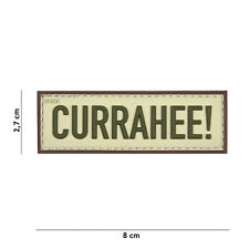 Currahee! beige #17041 Patch Klett Abzeichen Airsoft Paintball Softair