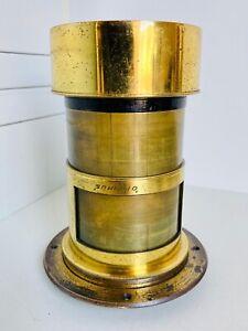 200mm f3.5 'OPTIMUS' (Perken Son, & Rayment) Fast Petzval Antique Brass Lens