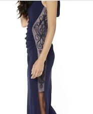 Lipsy 10 Michelle Keegan Lace side Cowl Neck Prom Maxi Dress BNWT
