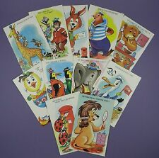 Qty of Comic Animal Postcards, Artwork by TROW - Original Unused Vintage Stock