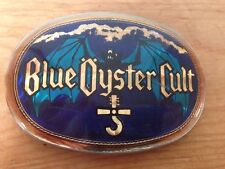 Vintage 1977 BLUE OYSTER CULT Prisim Pacifica Solid Brass Oval Belt Buckle
