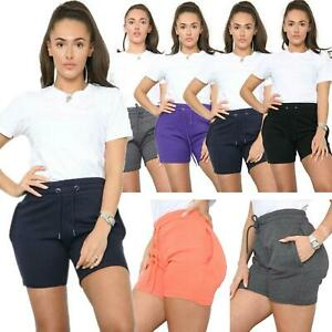 Womens Shorts Fleece Ladies Fleece Summer Lounge Yoga Gym Sweat Casual Short
