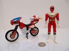 Power Rangers Zeo Red Jet Cycle V 5 w/ figure Vehicle Bandai 1996 !!!