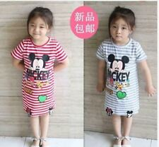 MICKEY KIDS STRIPE DRESS AG - RED (LARGE)