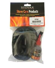 STOVAX - 13mm Soft Black Rope Stove Door Seal Kit - Rope - Glue - End Tape- 5700