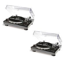 Audio-Technica AT-LP120 USB DJ Plattenspieler Doppelpack - 2 Stück (Schwarz)